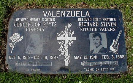 Lápida de Ritchie Valens