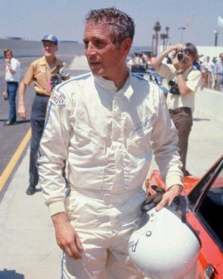 Paul Newman con el casco