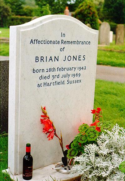 Lápida de la tumba de Brian Jones