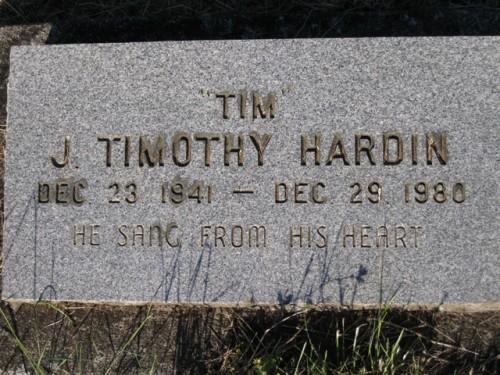 Lapida de Tim Hardin