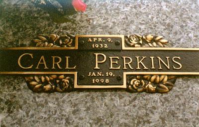 Lapida de Carl Perkins