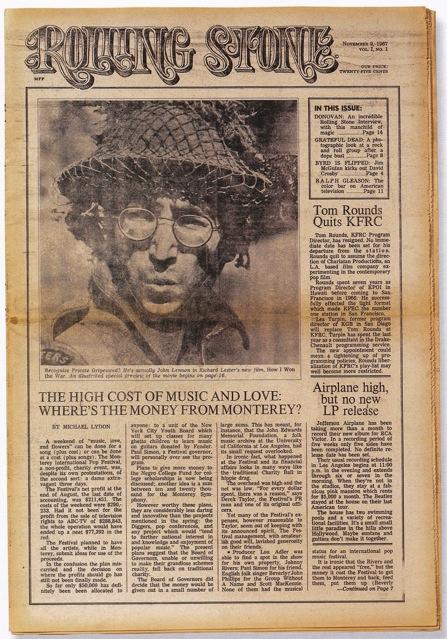 portada primer numero de rolling stone 1967