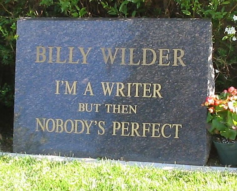Lapida de Billy Wilder