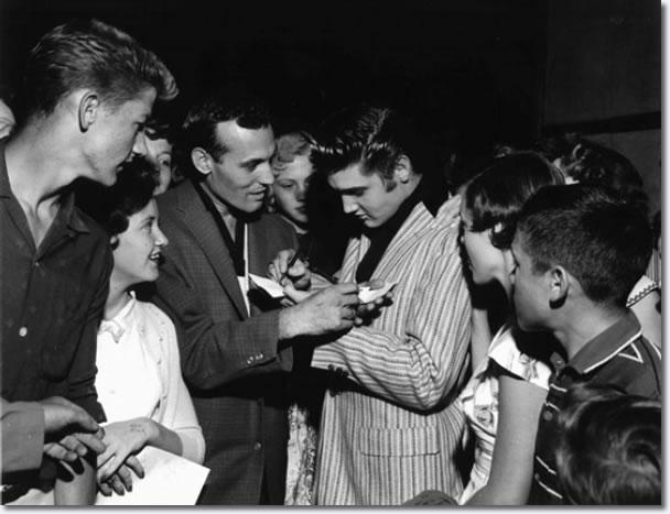 Carl Perkins y Elvis Presley