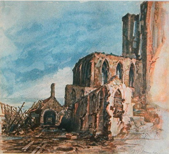 Ruins of a Cloister in Messines