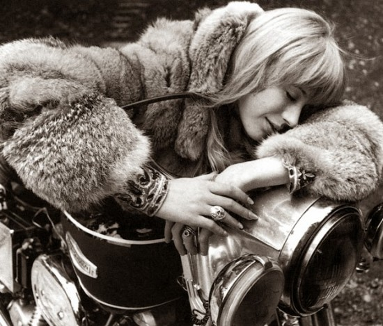 Marianne Faithfull in Girl on a Motorcycle, 1968 (7)